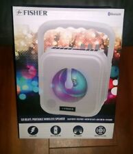 "Fisher DJ Bass Sound 12"" Wireless Bluetooth Speaker w/ Multi-color LED Lights"