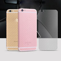 3X Full Back Carbon Fiber Vinyl Screen Protector For Apple iPhone 6 7Plus 5S SE