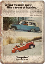 """Kaiser Jeep Corporation Jeepster 4-wheel 10"""" x 7"""" Reproduction Metal Sign A89"""