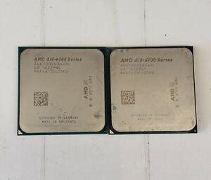 Lot (2) AMD A10-Series A10-6700 3.7GHz Socket FM2 4-Cores CPU AD6700OKA44HL