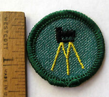 RARE Girl Scout 1955-1960 PHOTOGRAPHY BADGE Tripod Camera Photographer Patch NEW