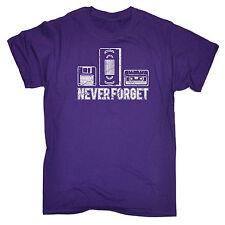 Never Forget Floppy Vhs Cassette T-SHIRT Retro 80S Video Tape Gift Birthday