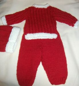 12 Inch Knitted 12 Inch Doll Christmas Outfit