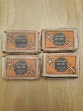 4 Vintage Boxes of Chicago No. 4-5  4/16 Brass Tubular Rivets