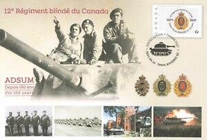 Canada 2021 12e Régiment blindé du Canada Commemorative Special Event Cover
