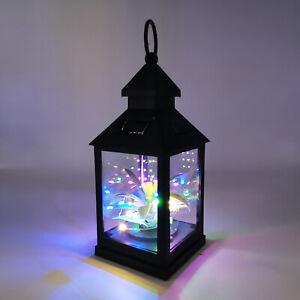 Waterproof LED Solar Powered Hanging Lantern Lights Outdoor Garden Plant Lamp UK