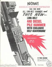 Equipment Brochure - Link-Belt Speeder - 440 Diesel Pile Hammer 3 items (E1716)