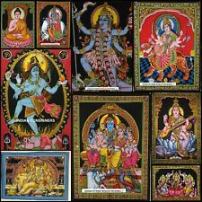 Indian Hindu Lord Design Poster Small Wall Hanging Tapestry Cotton Beautiful Art