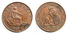 ESPAÑA-Gobierno provisional. 5 Centimos 1870. Barcelona. EBC/XF. Escasa asi