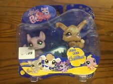Littlest Pet Shop Pet Pairs Chinchilla and Angora Bunny, #630 & #631, Cuddliest