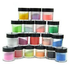 18 Color Jumbo Size Acrylic Powder Liquid Glitter Nail Art Tool Kit UV Dust Set