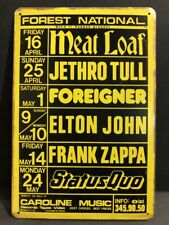 FOREST NATIONAL MUSIC FESTIVAL CONCERT ADVERT MEAT LOAF Vintage Retro Metal Sign