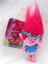 "Trolls Poppy Plush Toy Bag Clip Key Chains Coin Bag Clip On 8"" Soft Plush-New!"