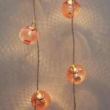 Copper Lantern - 16 LED Indoor String Light Chain - Battery Powered