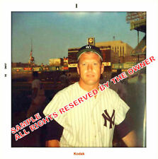 MICKEY MANTLE RARE FANS SNAPSHOT june 1968 5 BY 5 ENLARGED koda-k gold last YEAR