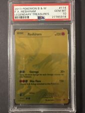 Pokémon PSA 10 Legendary Treasures Gold Reshiram 114/113 Secret Rare F.A. GEM MT