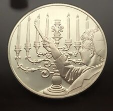 1973 LIGHTING THE MENORAH STERLING SILVER PROOF FRANKLIN MINT MEDAL