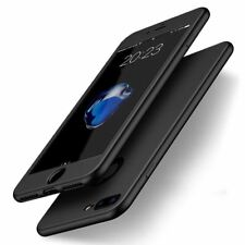 Hybrid 360 Shockproof Case TPU GEL Cover for Apple iPhone 10 X 8 Plus 7 6s 5 Black iPhone 6 / 6s