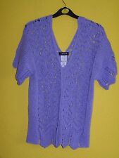 Ladies Knitted/Crochet Style Top By MORGAN, Lilac, Size Large