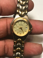 Nice Ladies Dual Tone Elgin EM885 Analog Watch With Date Feature