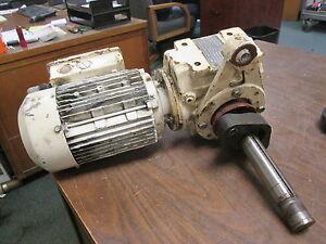 SEW-Eurodrive AC Motor w/ Gear DFT80N4-KS 1HP 1700RPM 230YY/460Y 3.70/1.85A Used