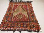 Antique Turkish Moroccan Kilim Rug shabby vintage wool Kelim 148x105cm medium
