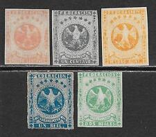 Venezuela stamps 1863 MI 7-11  UNG  VF