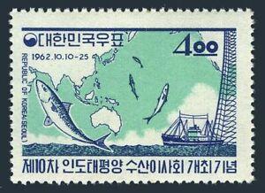 Korea South 375,MNH.Michel 367. Pacific Fishery Control,10, 1962. Fish, Trawler.