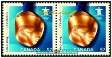 2x CANADA 2010 CANADIAN GOLD STRIKE CELEBRATION MINT FV FACE $1.14 MNH STAMP LOT