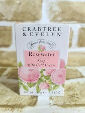 Crabtree & Evelyn Rosewater Soap with Cold Cream New in Box 3.5 Oz. for Dry Skin