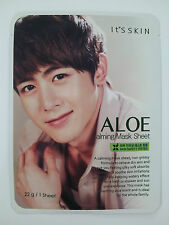 Kpop star 2PM Nichkhun mask sheet, Aloe calming mask sheet 5pcs