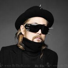 ByTheR Men's Black Spike 100% UV Custom A type Stud Biker Rider Sunglasses N