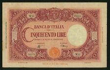 ITALY BANCA D'ITALIA  1944  500 LIRE BANKNOTE, VF/XF