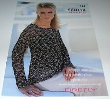 Sirdar Firefly womens knitting yarn pattern book #314 Ladder yarn patterns