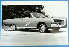 "12 By 18"" Black & White Picture 1967 Dodge Dart GT Convertible Top Down"