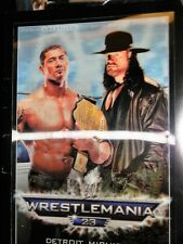 WWE WRESTLEMANIA 23 3-D SOUVENIR ARENA EDITION PROGRAM '07 FORD FIELD DETROIT MI