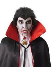 DRACULA TEETH SILVER FANGS/THERMOPLASTIC HALLOWEEN FANCY DRESS MONSTER VAMPIRE