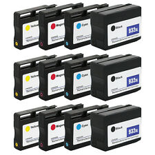 12PK 932 XL 933 XL Ink Cartridge for HP Officejet 6100 6700 6600 7610 7612 7100