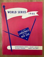 1946 WORLD SERIES BASEBALL PROGRAM BOSTON RED SOX @ CARDINALS - OPIE 050/1000