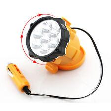12V 7 LED Linterna magnética de mechero de coche Auto luz de trabajo de emergencia