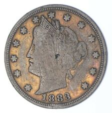 1883 'NO Cent' Liberty V Nickel - Tough - First Year Issue *909