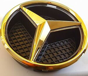 24ct Gold Plated Front Grille Hood BADGE For Mercedes A B C GLA GLK CLA E Class