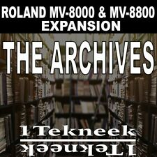 Roland MV-8800 & MV-8000 Expansion pack (1Tekneek - The Achives)