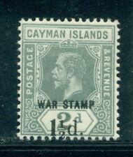 """CAYMAN ISLANDS MR7 SG58 MH 1920 1&1/2p on 2p KGV """"War Tax"""" Cat$4"""