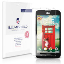 iLLumiShield Phone Screen Protector w Anti-Bubble/Print 3x for LG Optimus L70