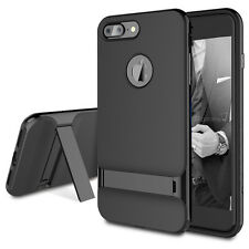 For Apple iPhone 7 / 7 Plus Shockproof Bumper Rubber Case Kickstand+Glass Screen
