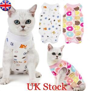 UK Pet Surgery Post Operative Clothes Cat Recovery Suit Cotton Dog Care Pajamas