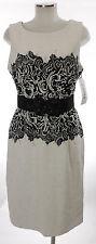 Joseph Ribkoff Kleid schwarz weiß 42 (D) 14 Polyamid Gürtel  dress robe neu