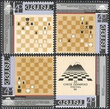 Armenia 1996 Chess Olympiad/Board Games/Sports/Chessmen/Pieces 4v set (n43997)