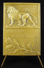 Médaille Albert Ier Roi Belgique Belgium King virtus violentiae victrix medal